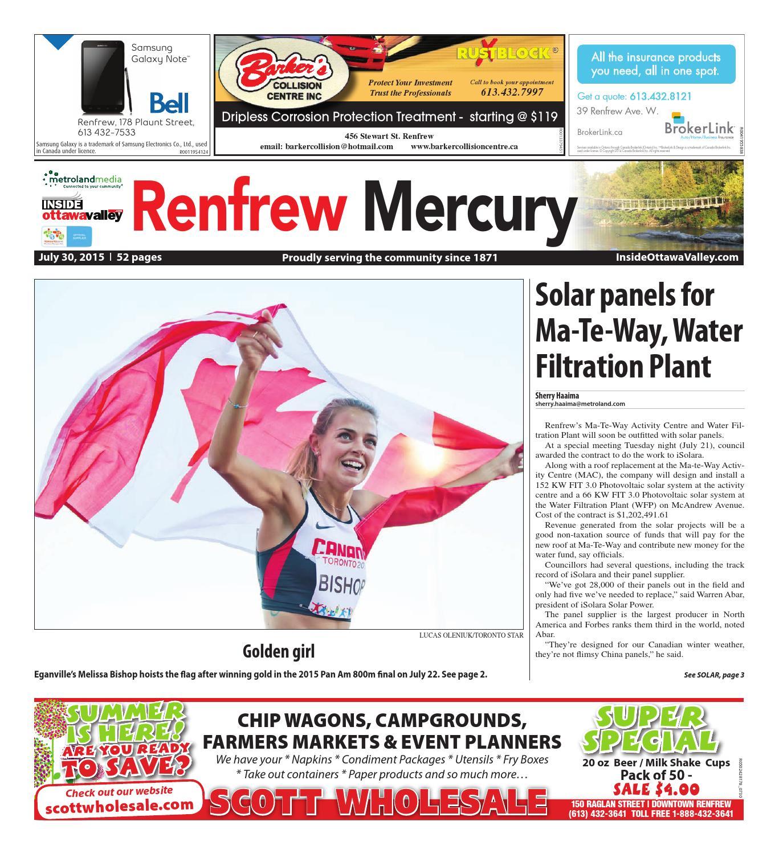 Renfrew073015 by Metroland East - Renfrew Mercury - issuu