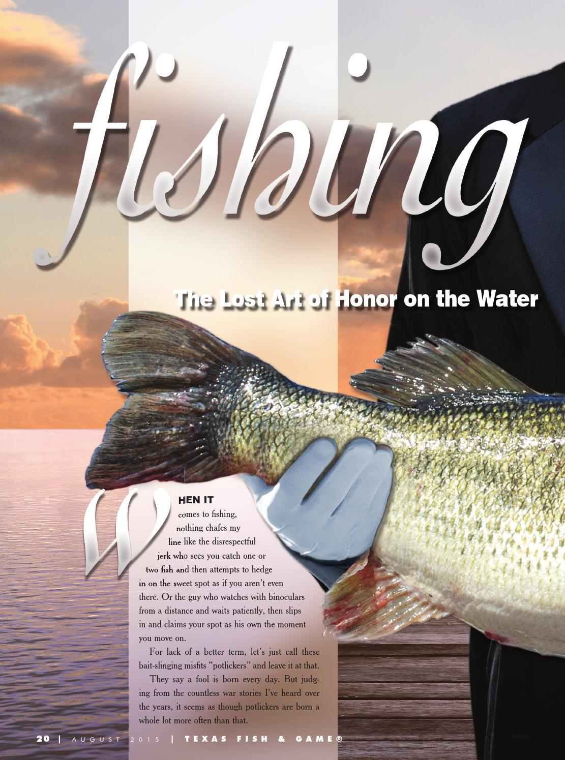 Texas fish game august 2015 by texas fishing and hunting for Texas game and fish