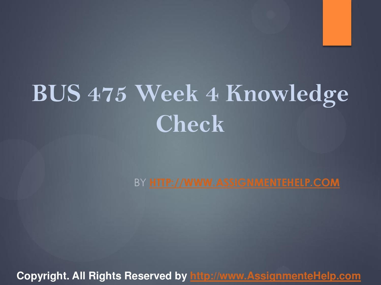 NSG6420 - WEEK 6 KNOWLEDGE CHECK
