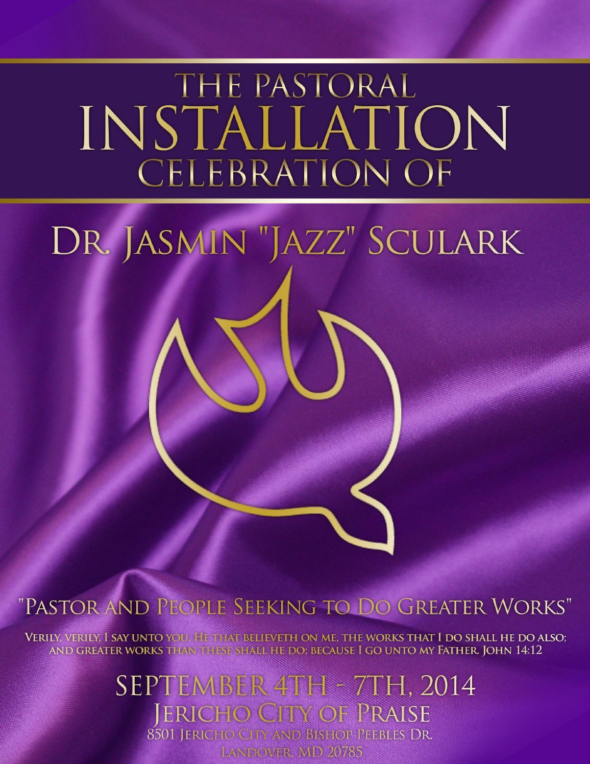 Jericho COP Pastoral Installation Book by DG Creative ...