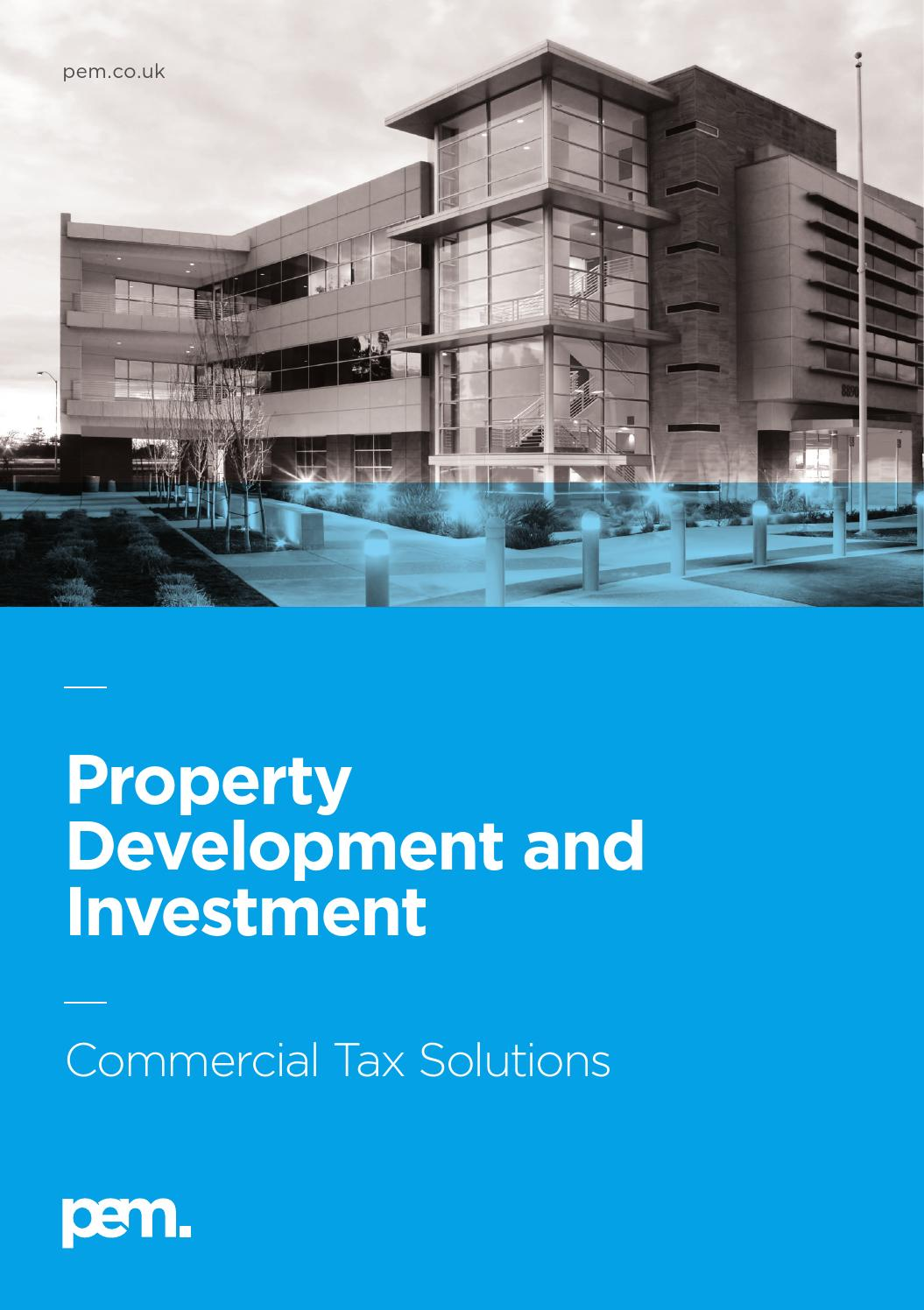 Investment Property Development : Property development and investment by pem cambridge
