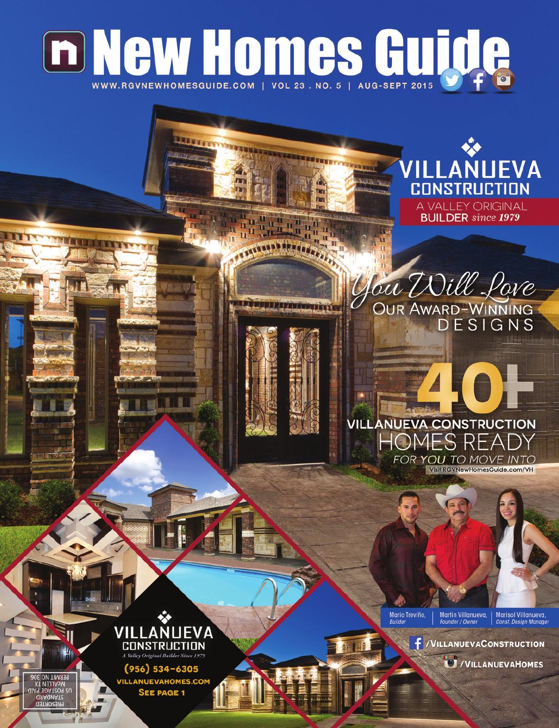 Rgv new homes guide vol 23 no 5 august 2015 september for Home builders guide
