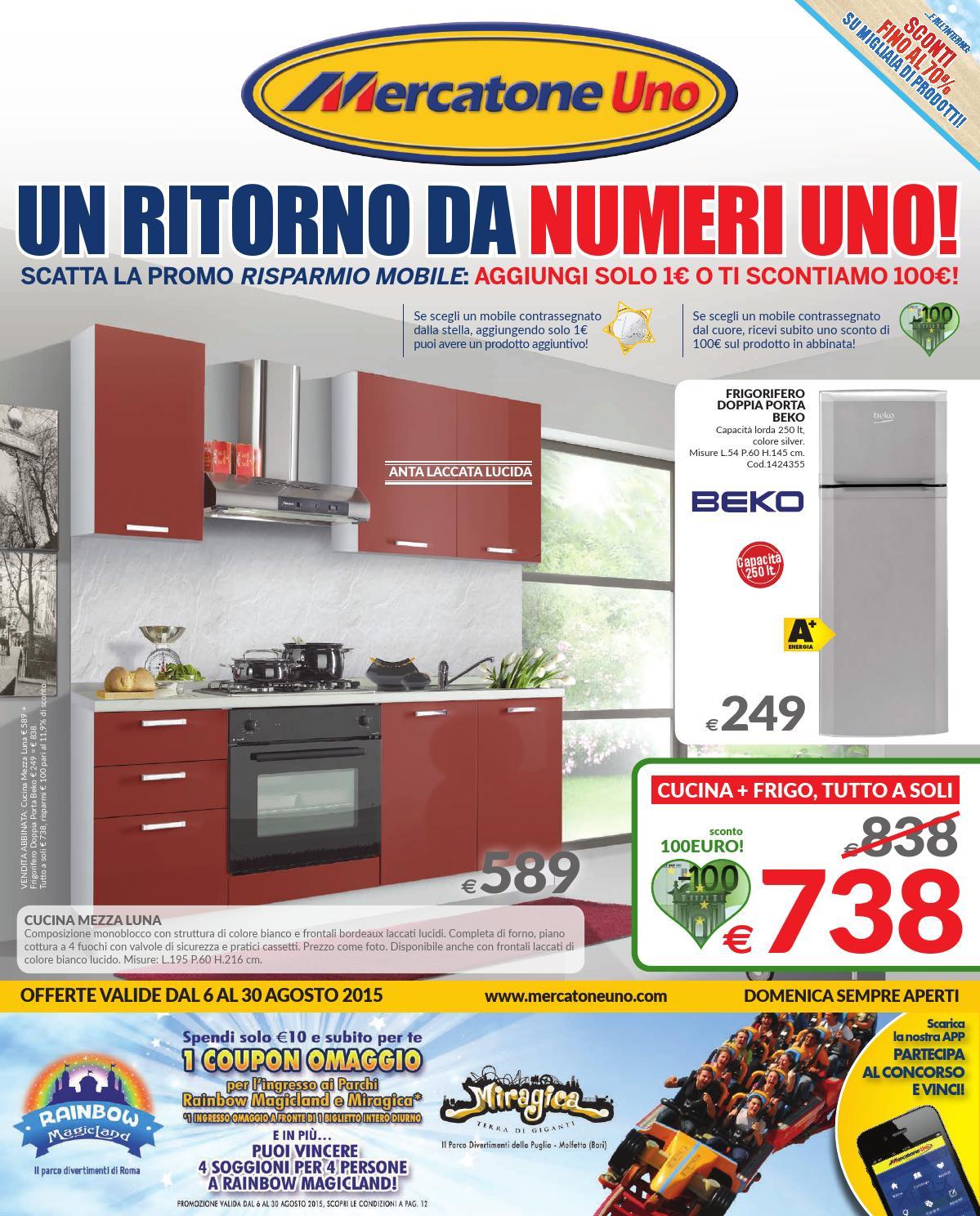 Mercatone uno agosto by mobilpro issuu - Cucina mercatone uno ...