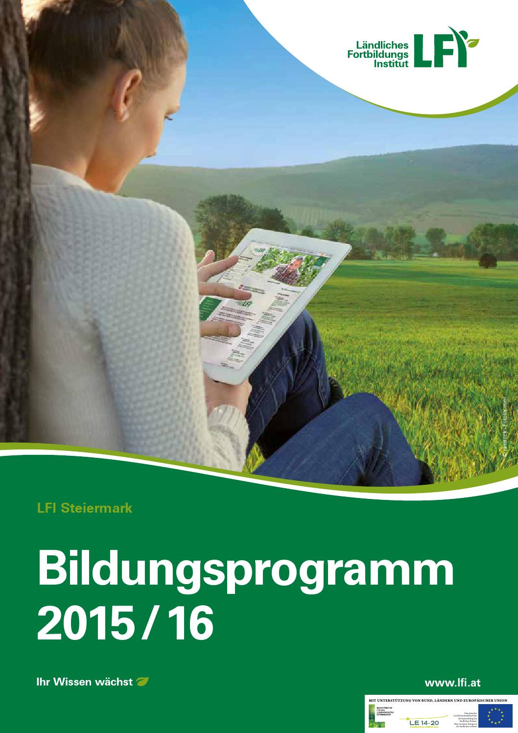 Bildungsprogramm LFI Steiermark 2015/16 by LFI Steiermark - issuu