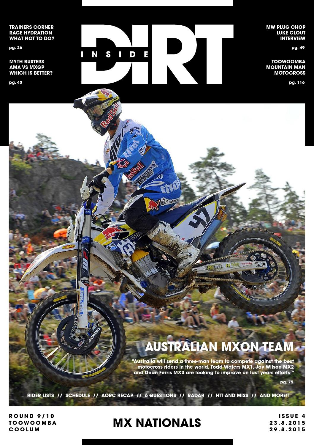 inside dirt - issue 4  mx nationals by mx nationals