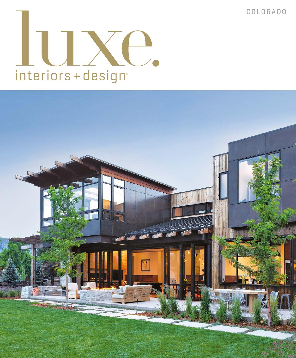 Luxe magazine september 2015 colorado by sandow media llc for Hotel luxe design