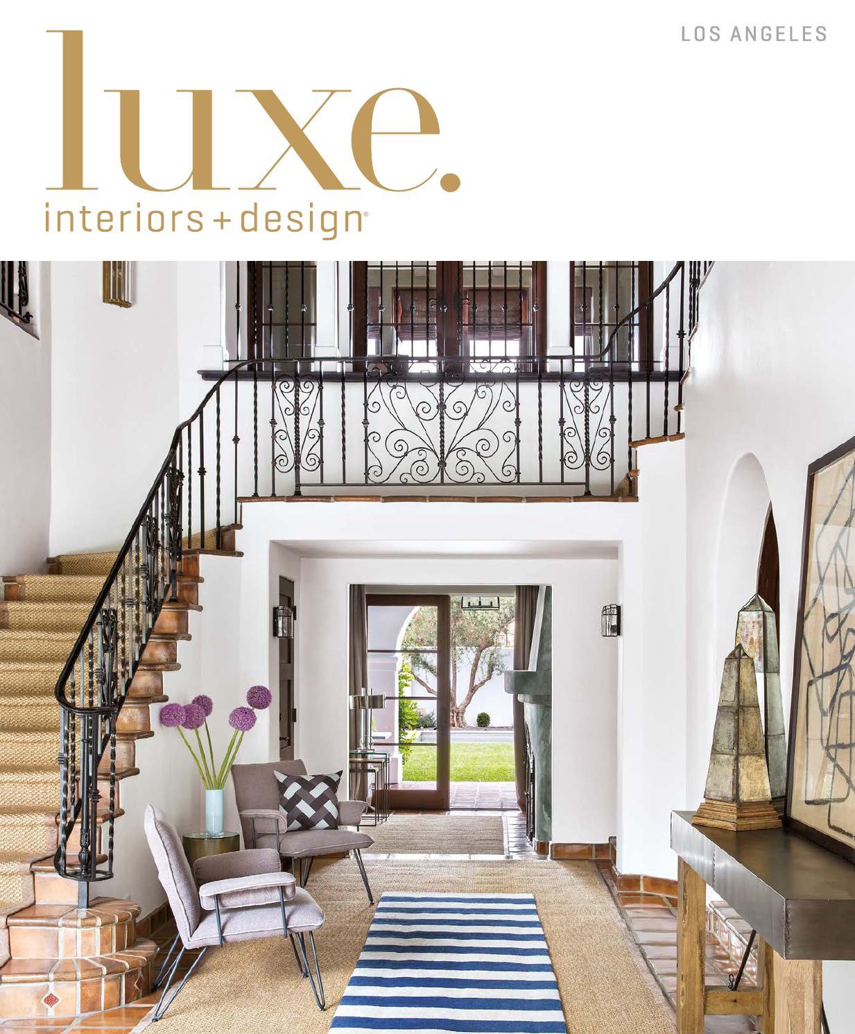 Luxe magazine september 2015 los angeles by sandow media - Houston interior design magazine ...