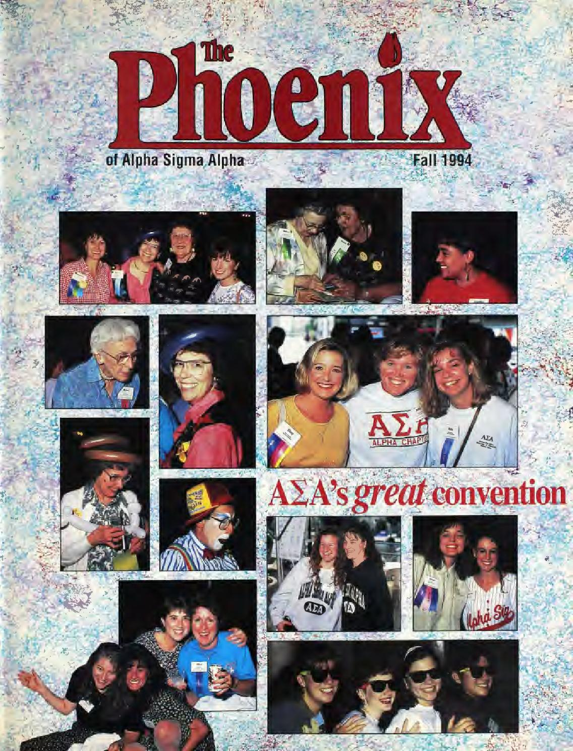 asa phoenix vol no fall by alpha sigma alpha sorority asa phoenix vol 83 no 1 fall 1997 by alpha sigma alpha sorority issuu