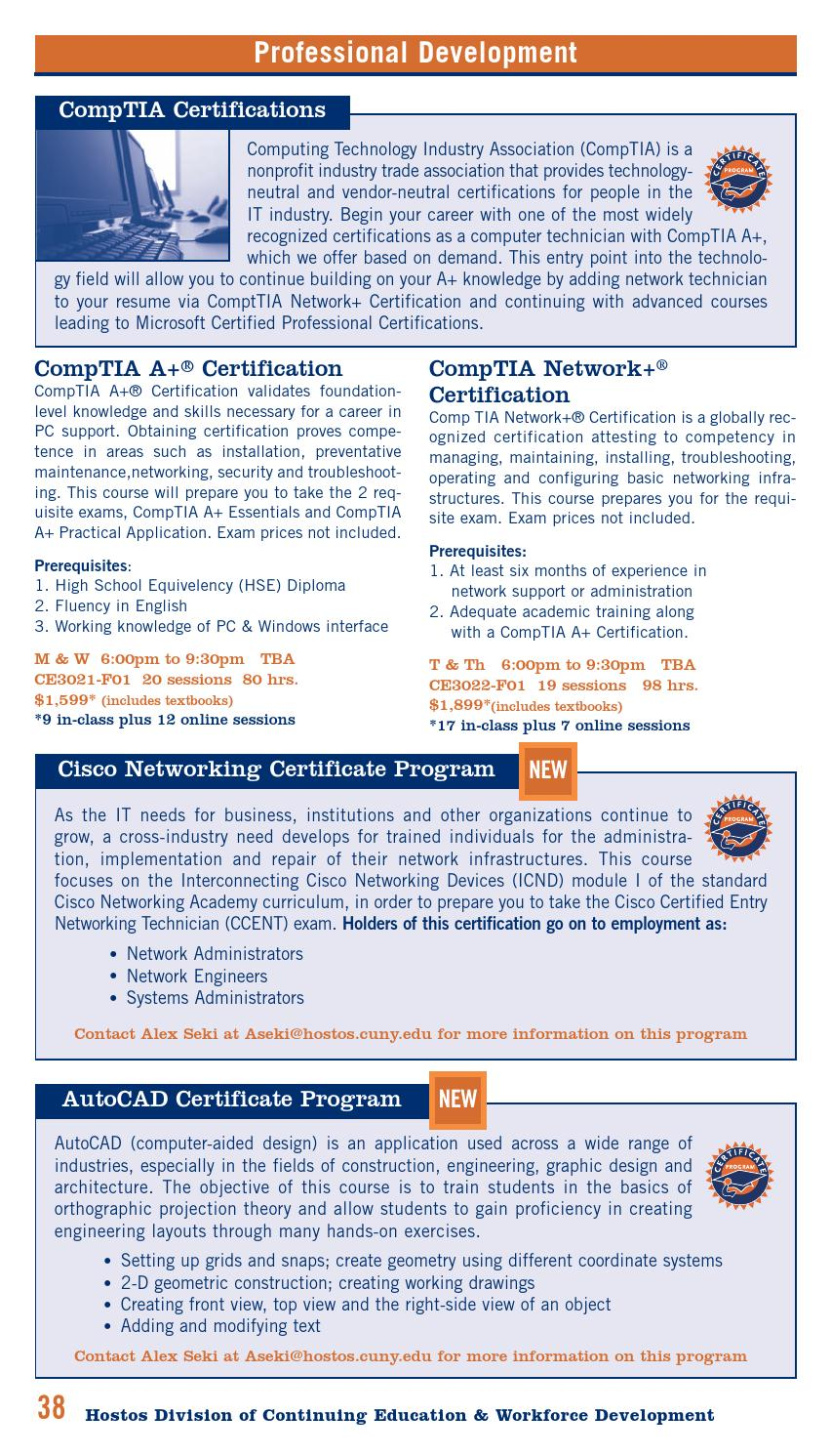 fall 2015 continuing education catalog by hostos community