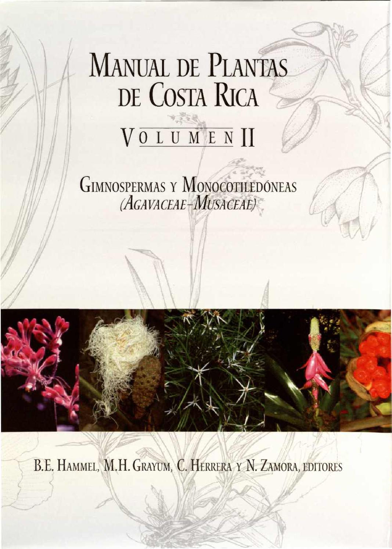 manual de plantas de costa rica ii gimnospermas y On manual de plantas ornamentales pdf