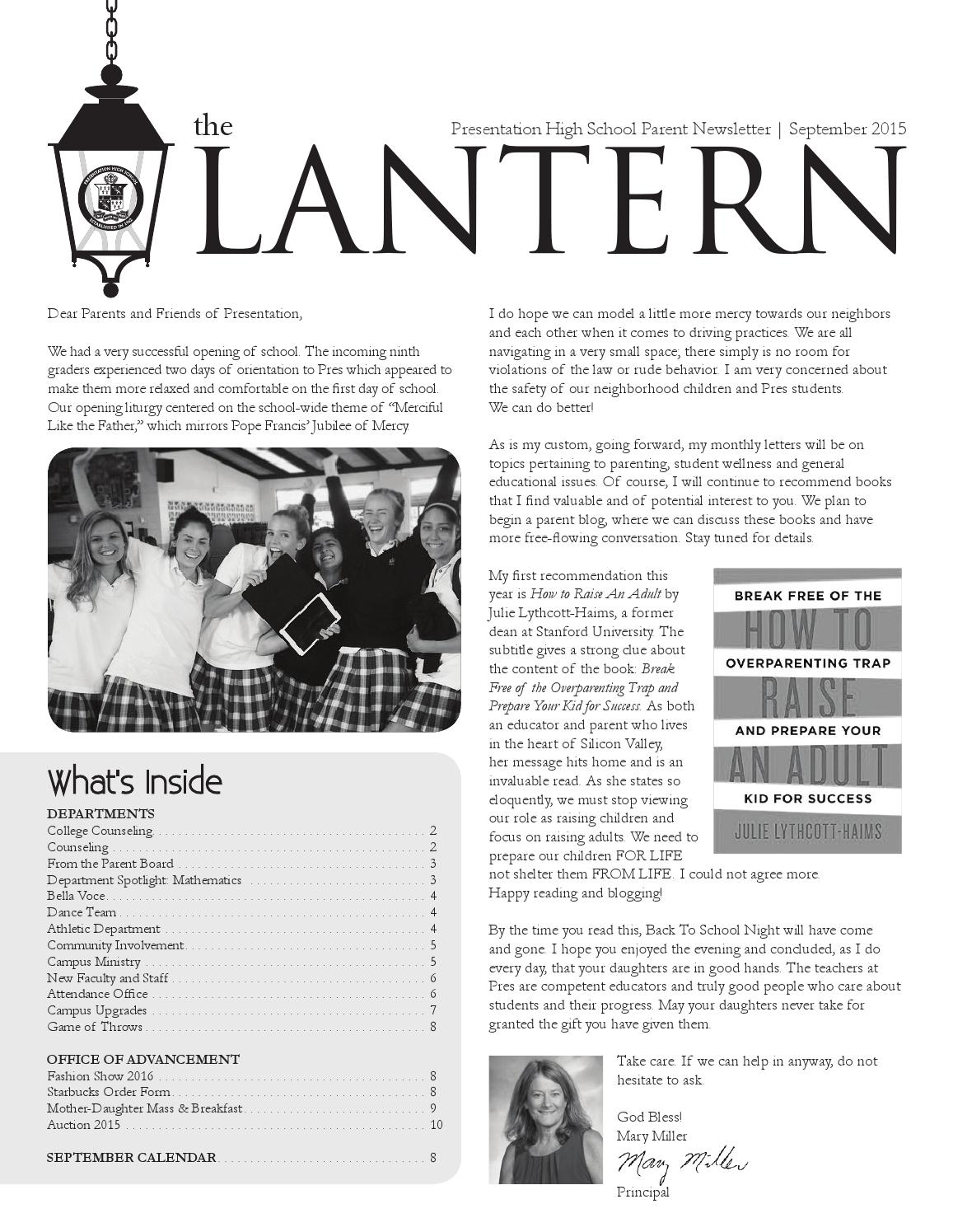the lantern by presentation high school issuu