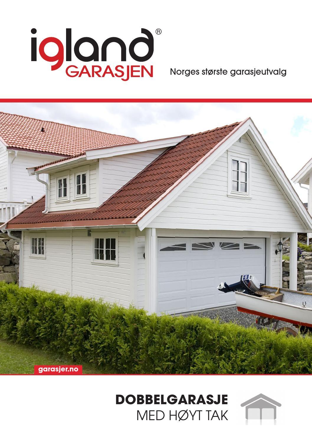 Dobbelgarasje med loft by Igland Garasjen - issuu