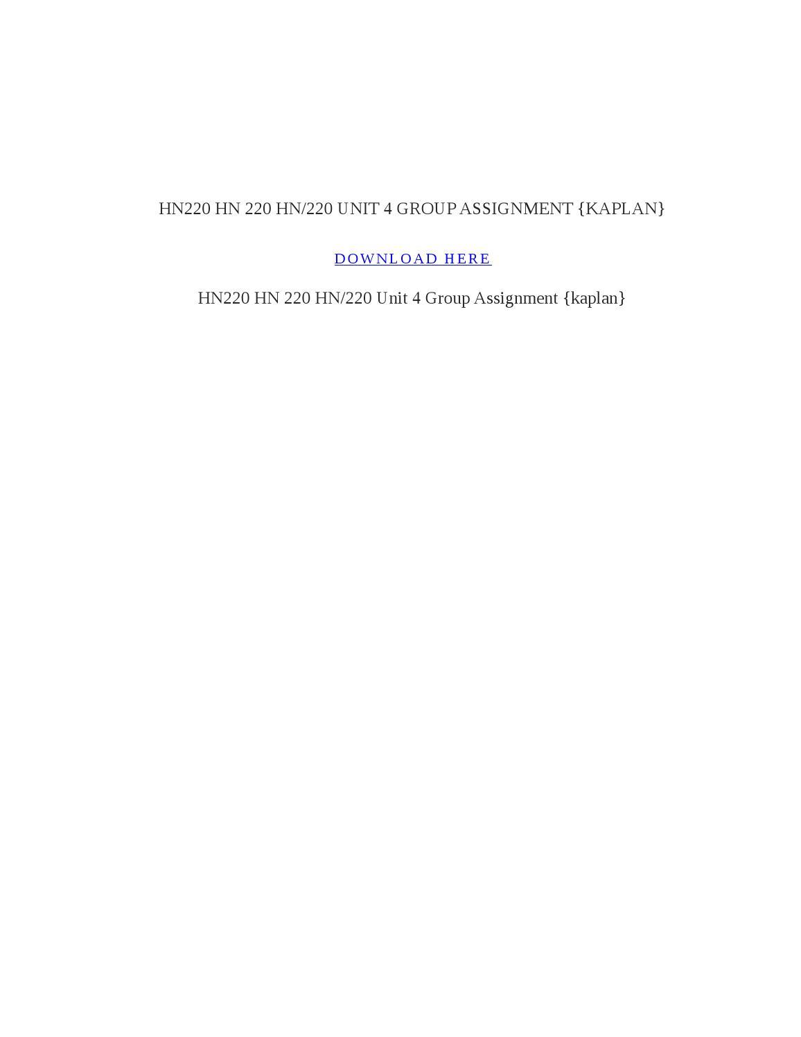 hn 220 unit 5 assignment the Cm220 cm/220 cm 220 unit 4 assignment annotated bibliography kaplan cm220 cm/220 cm 220 unit 4 assignment annotated bibliography kaplan download here.