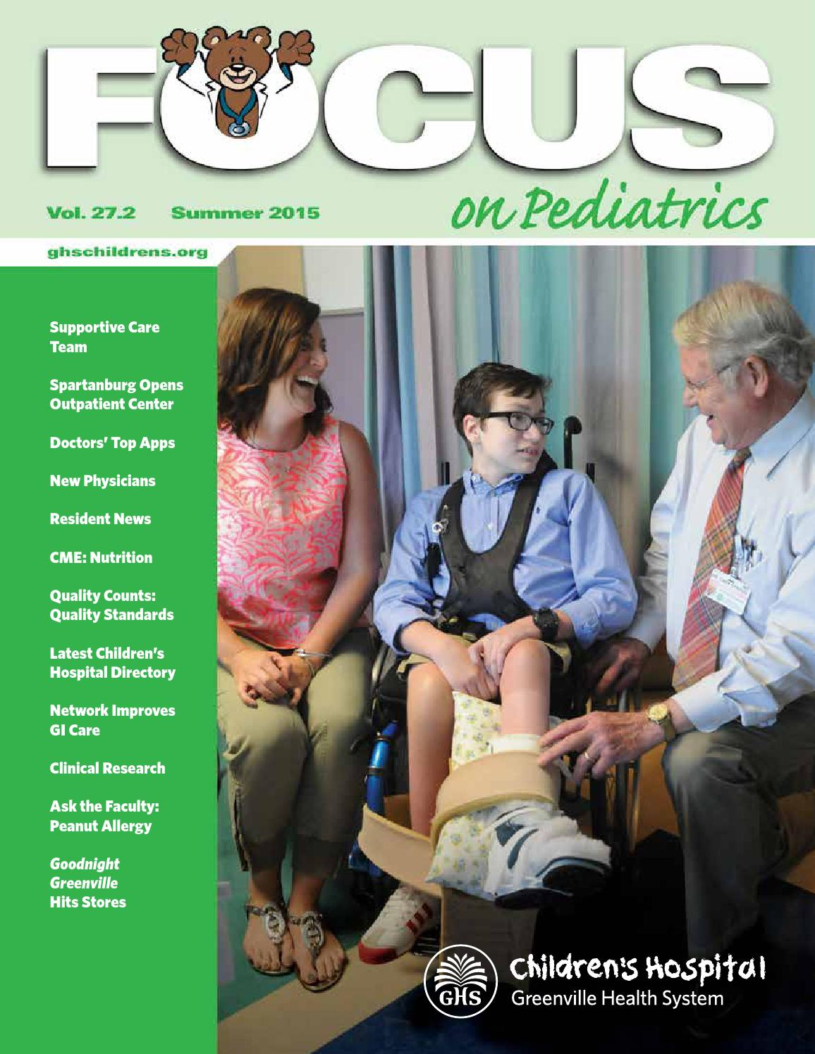 focus on pediatrics summer 2015 by greenville health system issuu