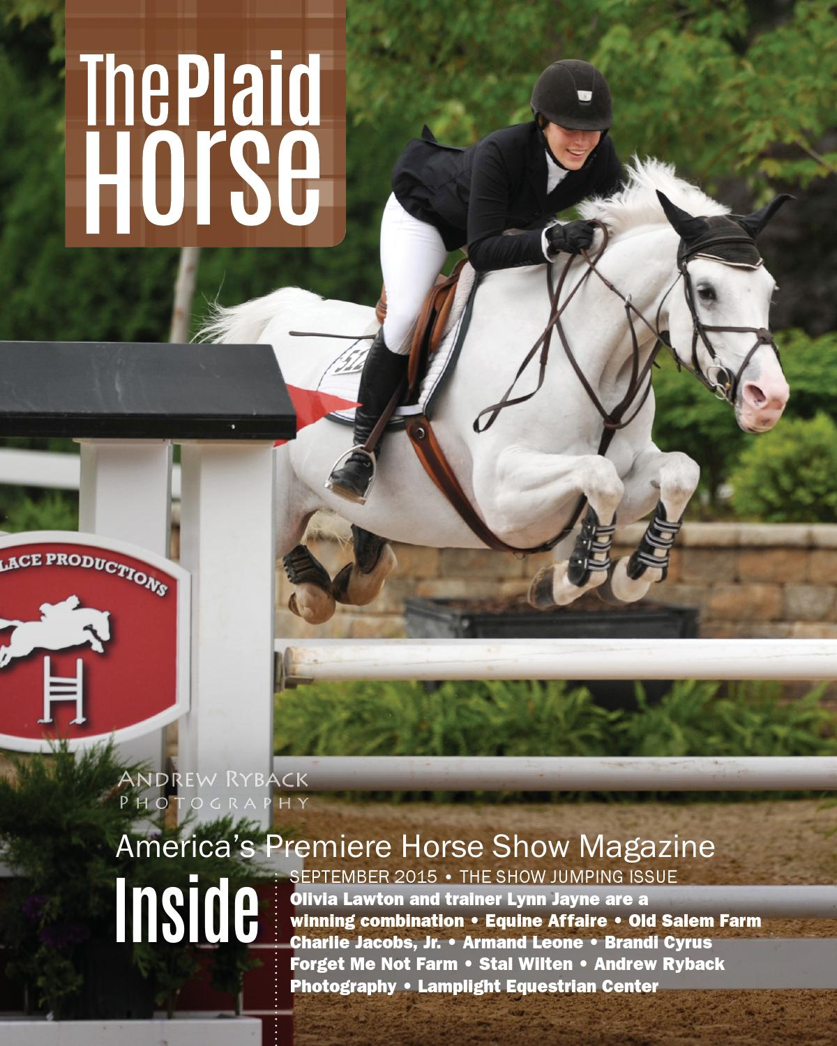 The Plaid Horse September 2015 The Show Jumping Issue By