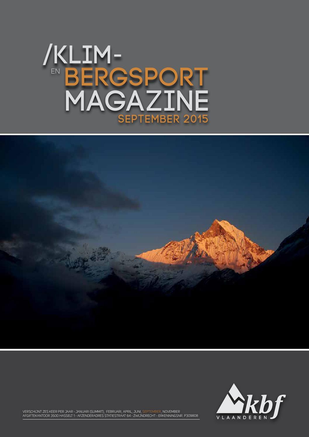 Klim- en bergsportmagazine 2015 4 by Klim en Bergsportfederatie ...