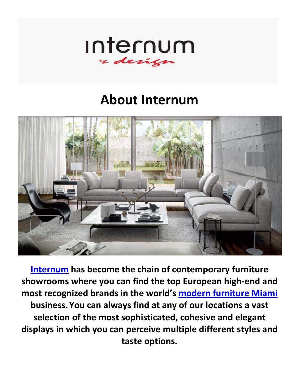 Internum Modern Furniture Miami By Internum Miami Issuu