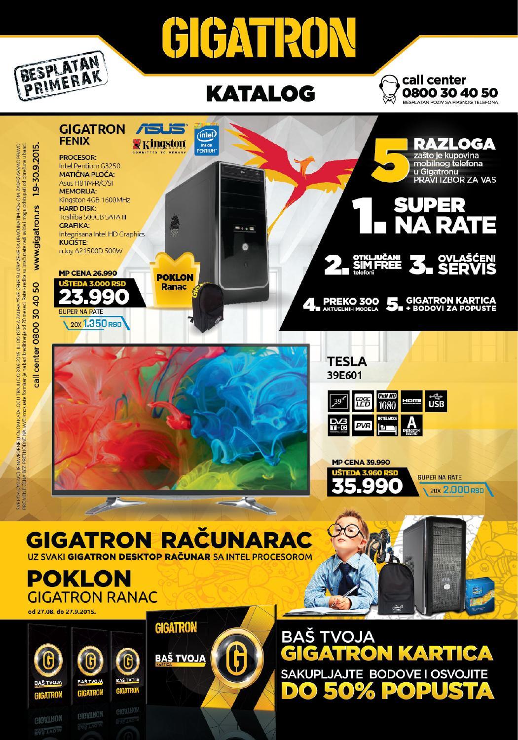 Gigatron Katalog Septembar 2015 By Gigatron Shop Issuu