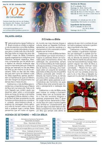 [Jornal Santa Rosa de Lima – Setembro de 2015]