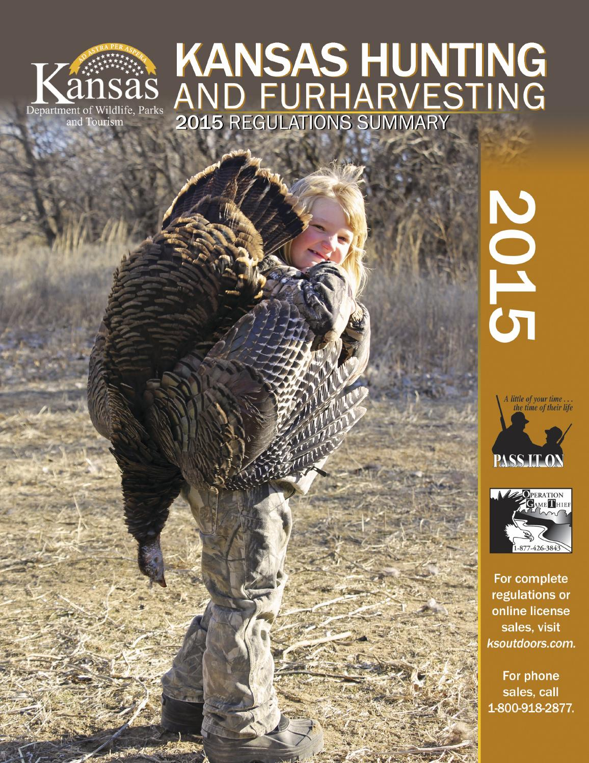 2015 kansas hunting regulations summary by kansas for Kansas state fishing license