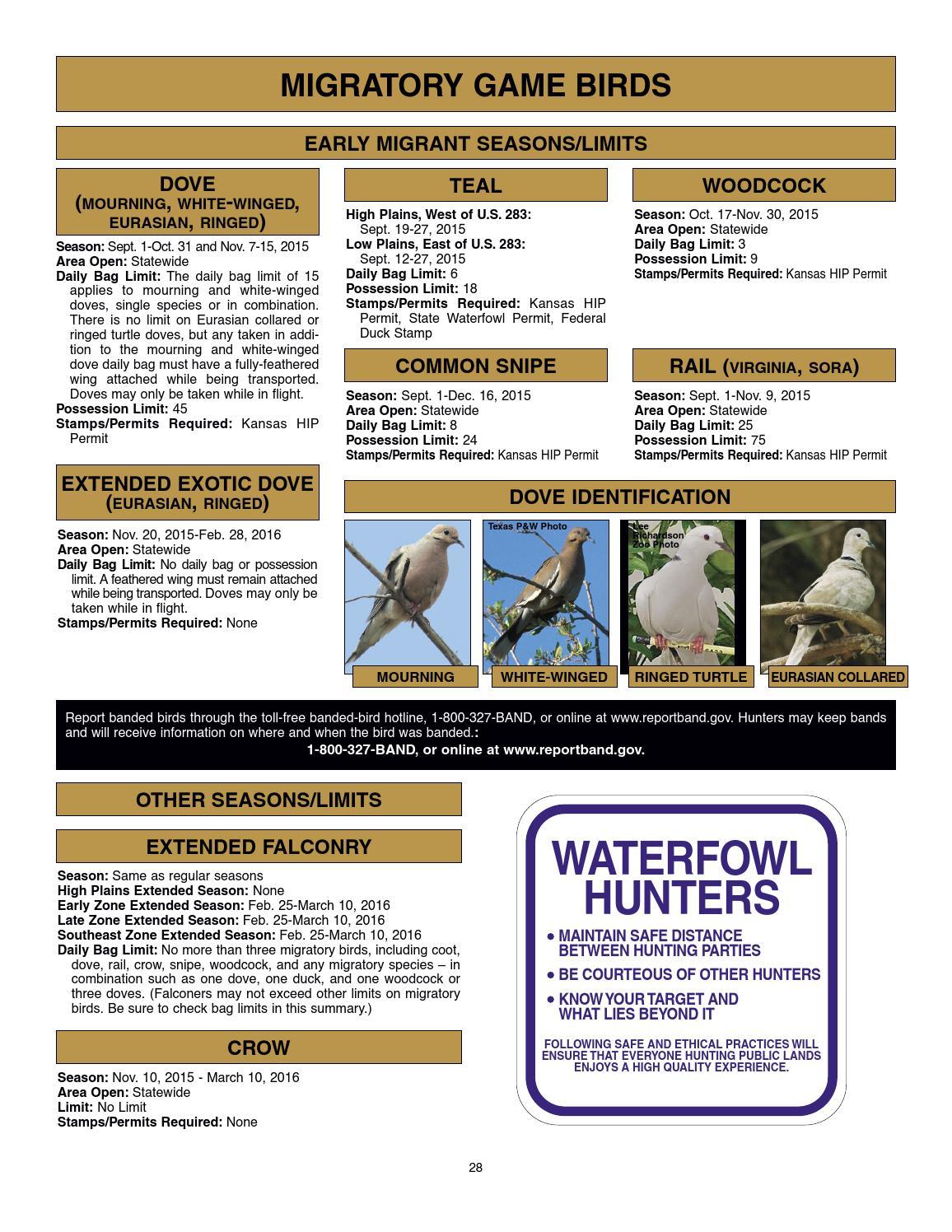 2015 kansas hunting regulations summary by kansas for Kansas fishing license