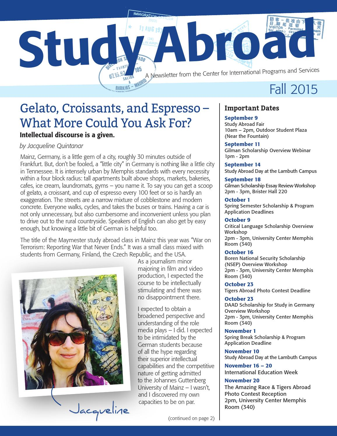 Study Abroad Newsletters | Study Abroad