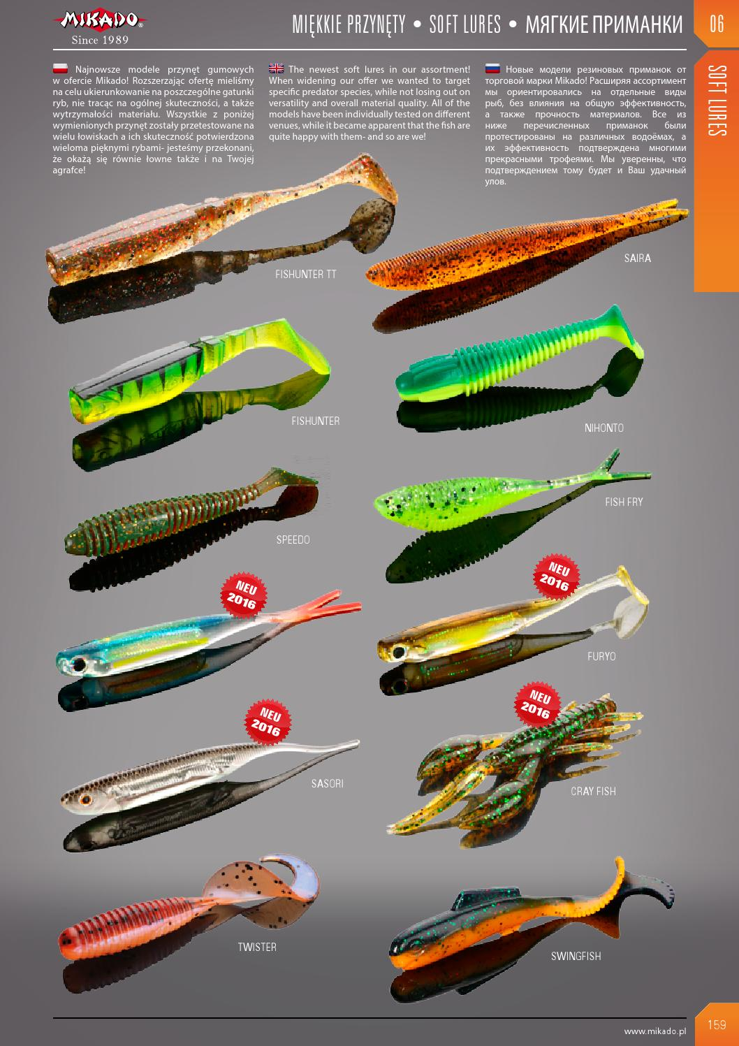 catalogo mikado 2016 by eric - issuu, Soft Baits