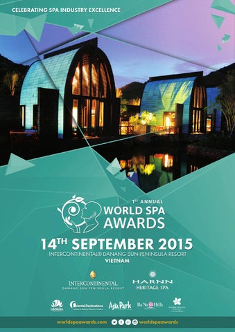 World Spa Awards Gala Ceremony 2015 programme