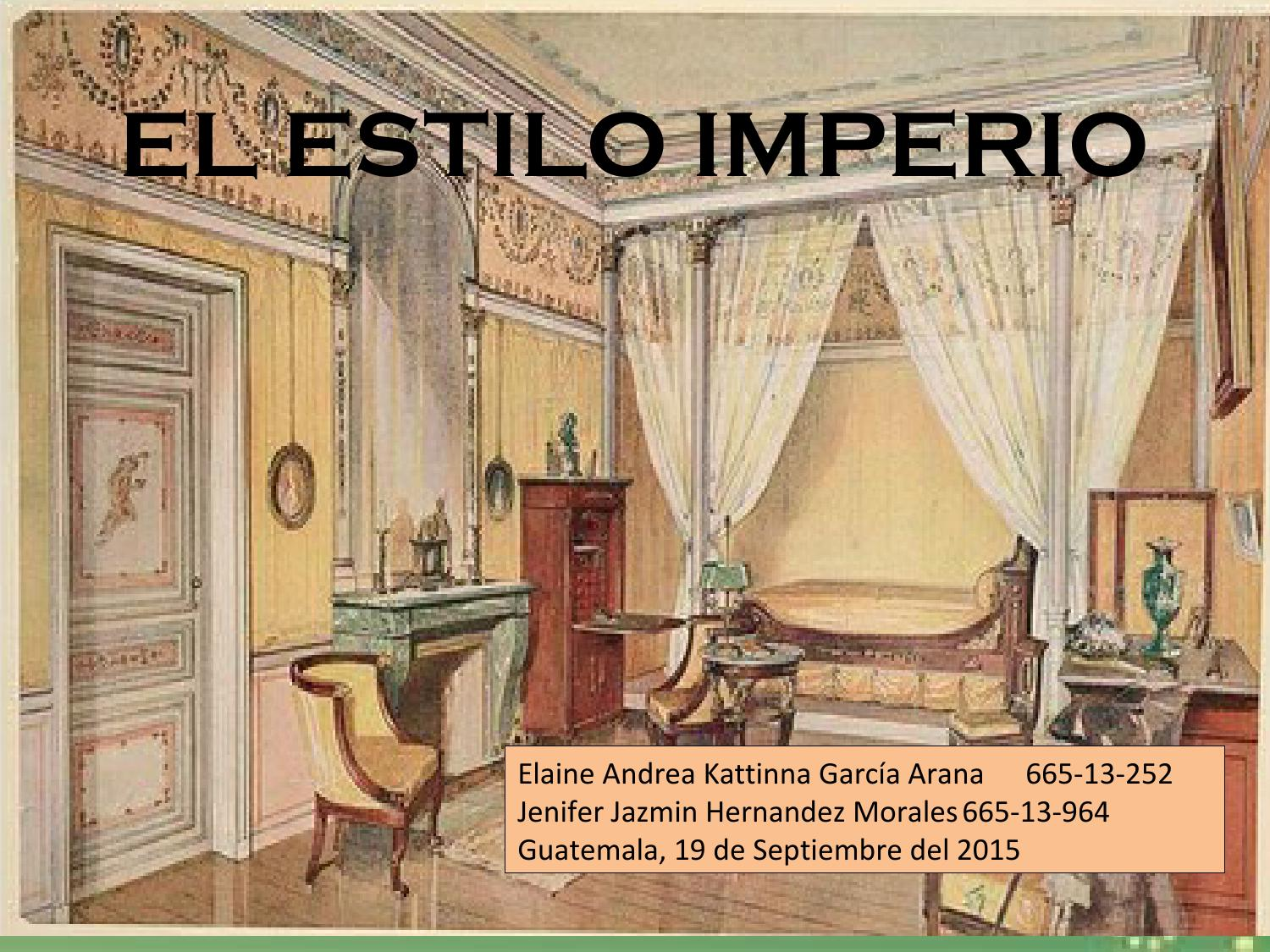 Estilo imperio by andrea arana issuu for Muebles estilo imperio