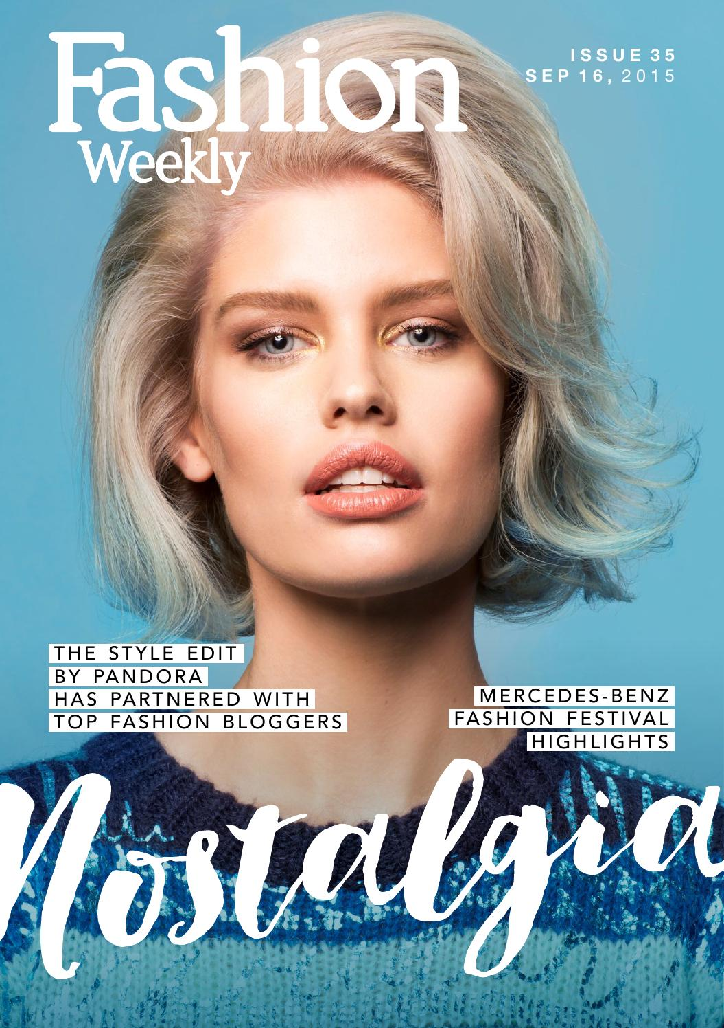 Fashion Weekly Magazine Issue 35 Nostalgia Sept 16 2015 By Fashion Weekly Issuu