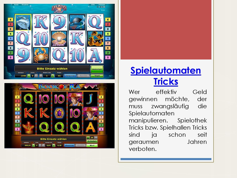 spielautomaten tricks in spielhallen