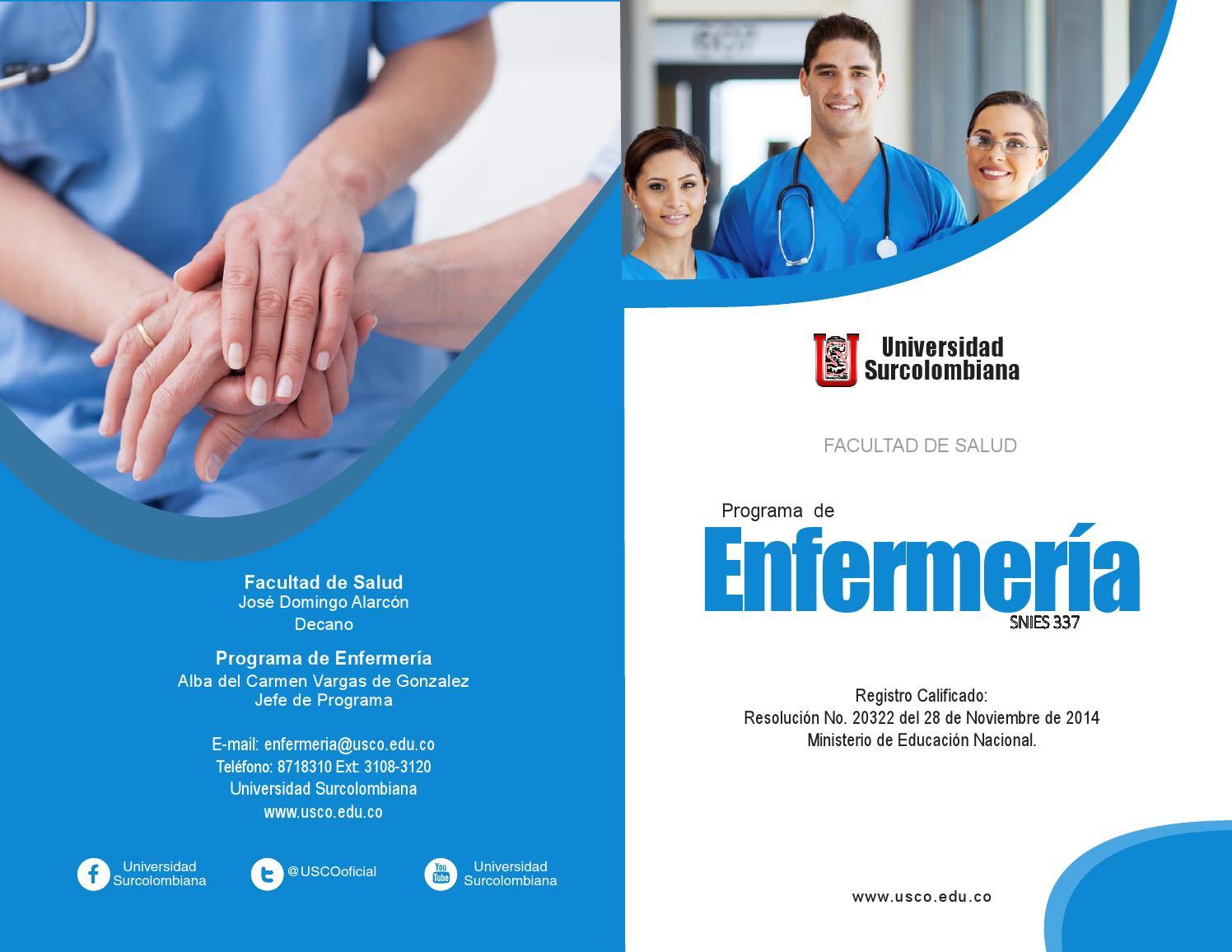 folleto programa de enfermer237a usco by andres thomas issuu