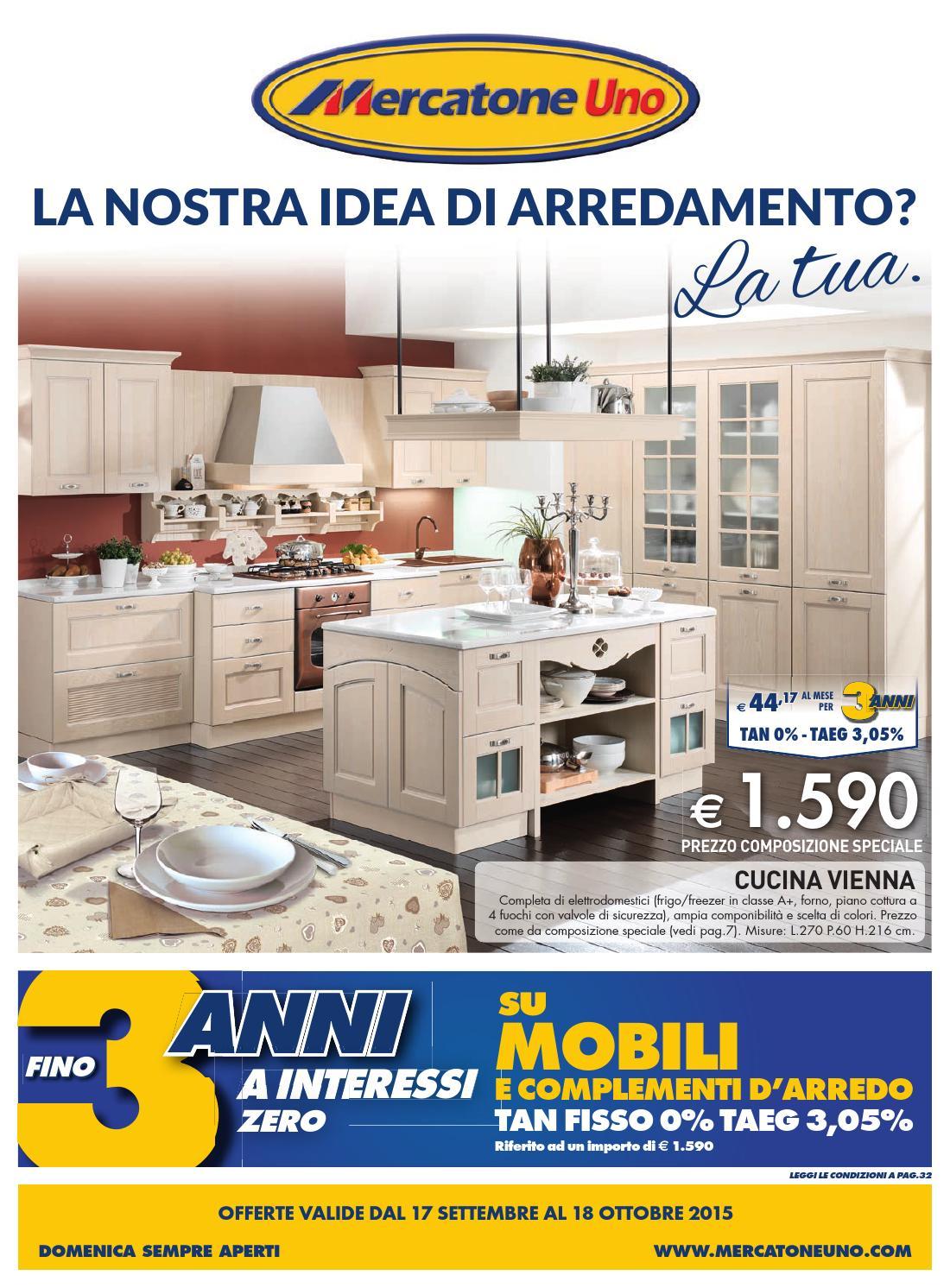 Mercatoneuno catalogo 17settembre 18ottobre2015 by - Cucina completa mercatone uno ...
