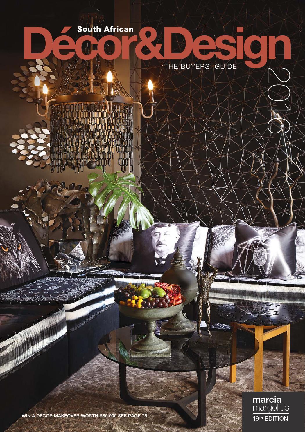 Sa Decor And Design The Buyers Guide 2016 Edition By Sa