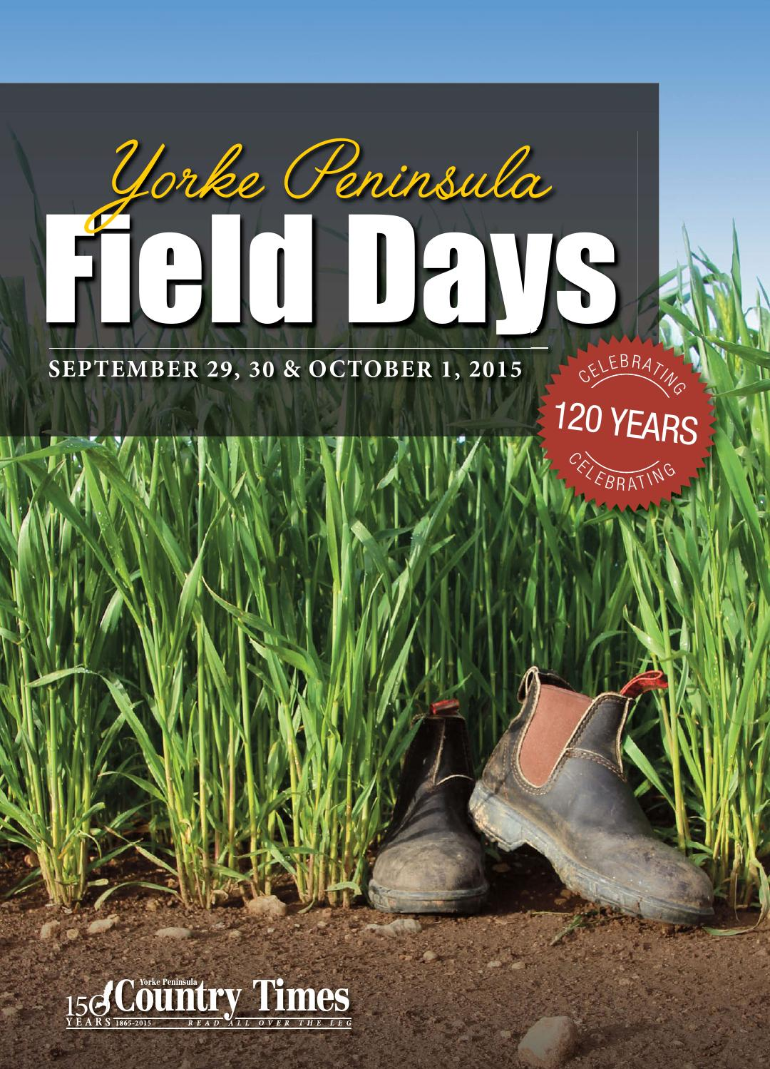 Field Days Booklet By Yorke Peninsula Country Times Issuu