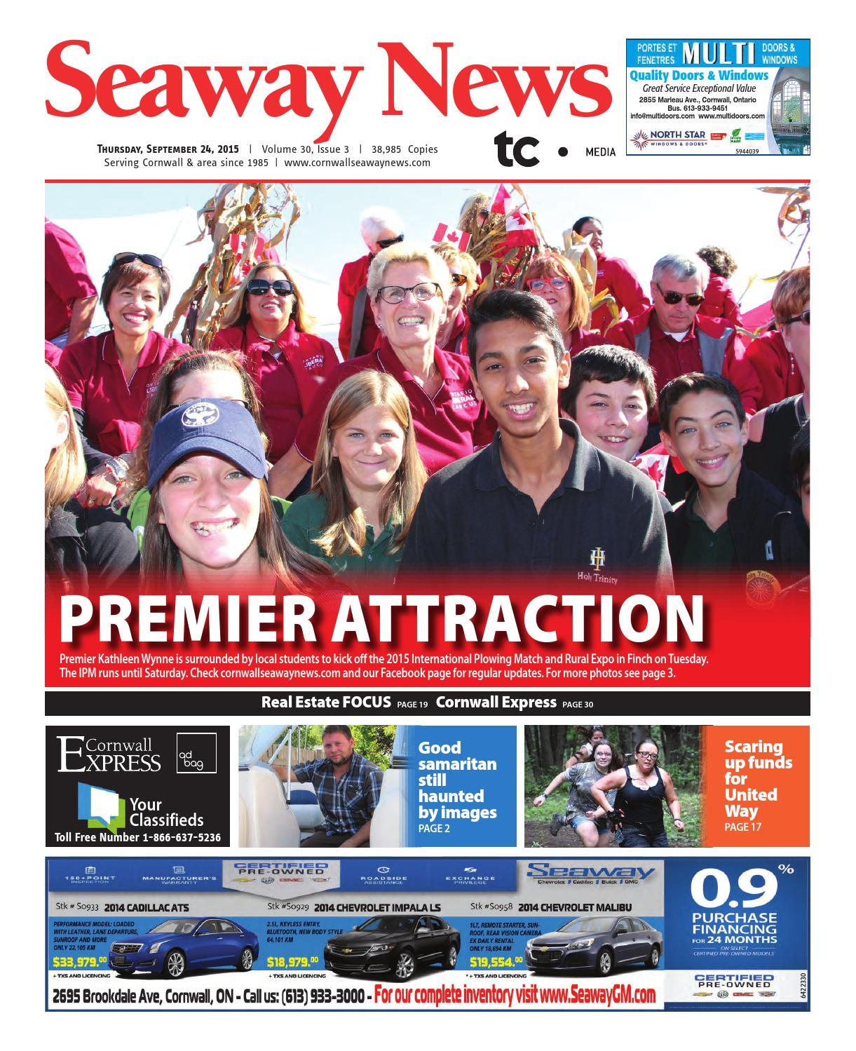 Cornwall Seaway News September 24 2015 Edition By