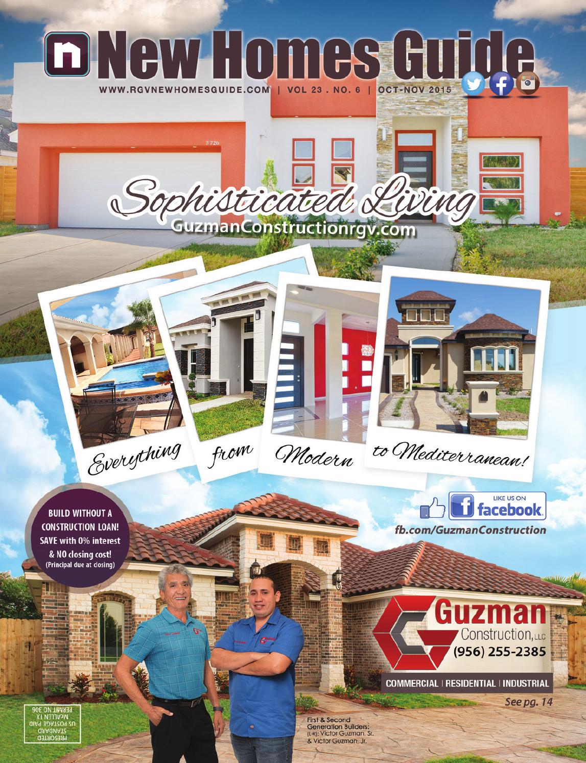 Rgv new homes guide vol 23 no 6 october november 2015 for Home builders guide