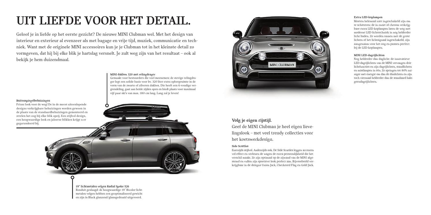 nieuwe mini clubman accessoires catalogus by bmw group belux issuu. Black Bedroom Furniture Sets. Home Design Ideas