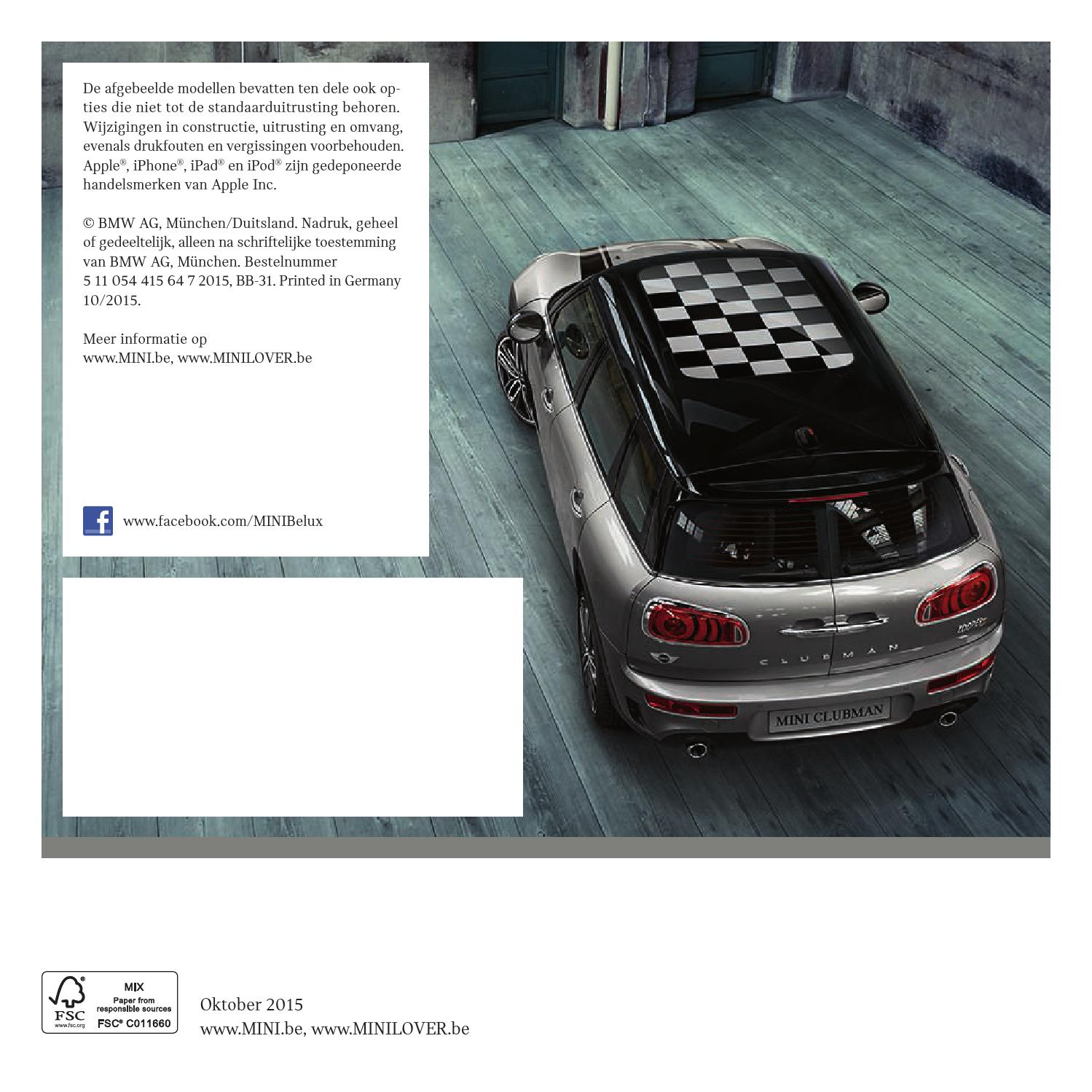 nieuwe mini clubman accessoires catalogus by bmw belux page 4 issuu. Black Bedroom Furniture Sets. Home Design Ideas