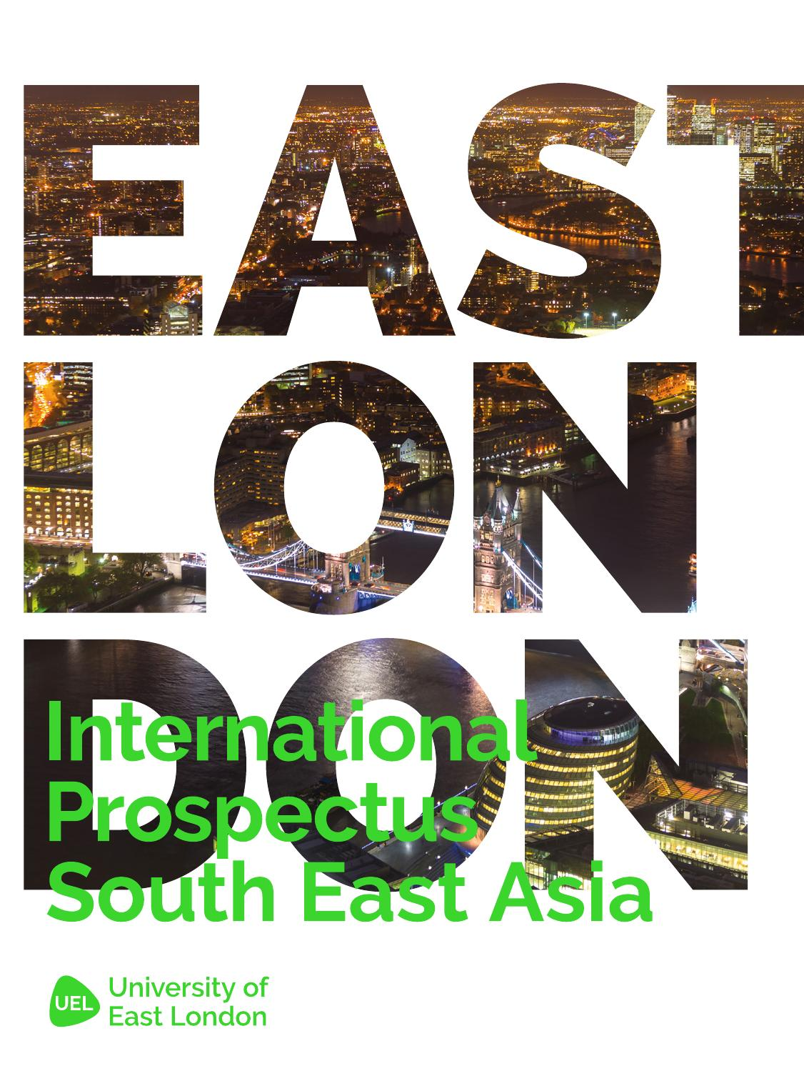 East London: University Of East London, International Prospectus South