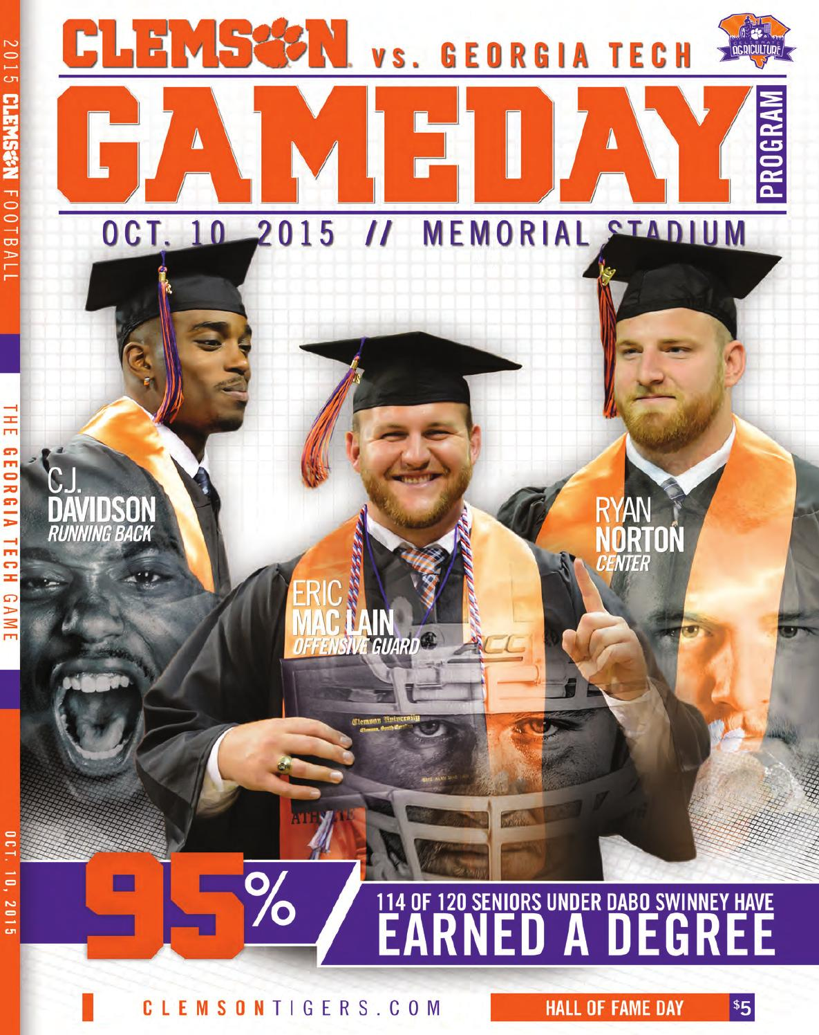 clemson vs tech program 2015 by clemson tigers issuu tech program 2015 by clemson tigers issuu