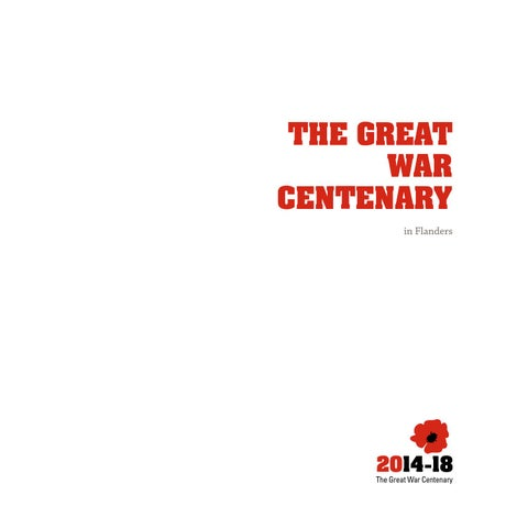 The Great War Centenary in Flanders 2014-18
