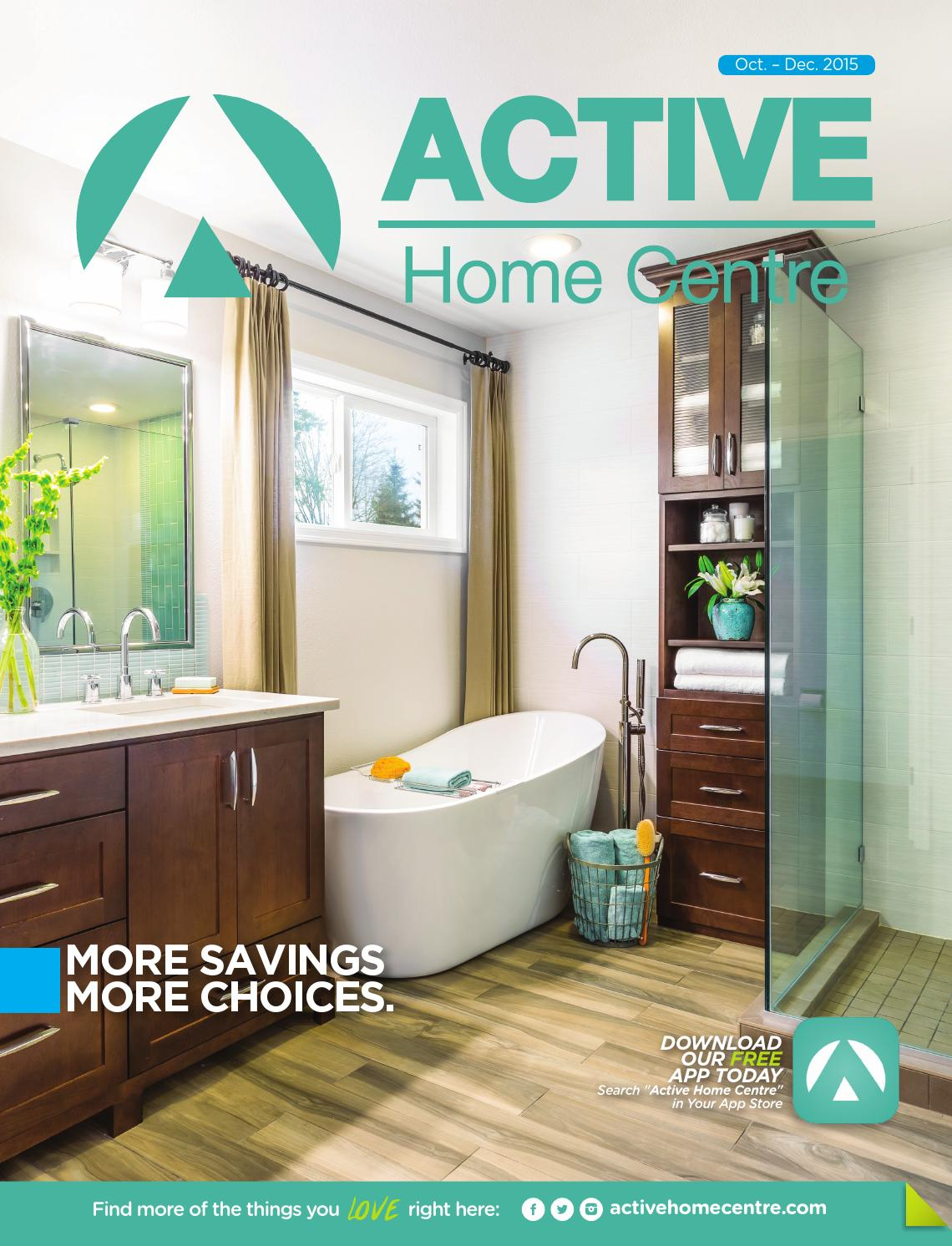 Active home centre catalogue 2015 by active home centre for Bathroom designs jamaica