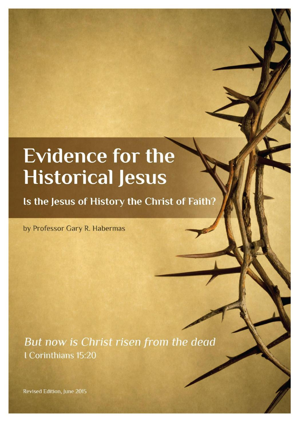 Historical thesis of evidence