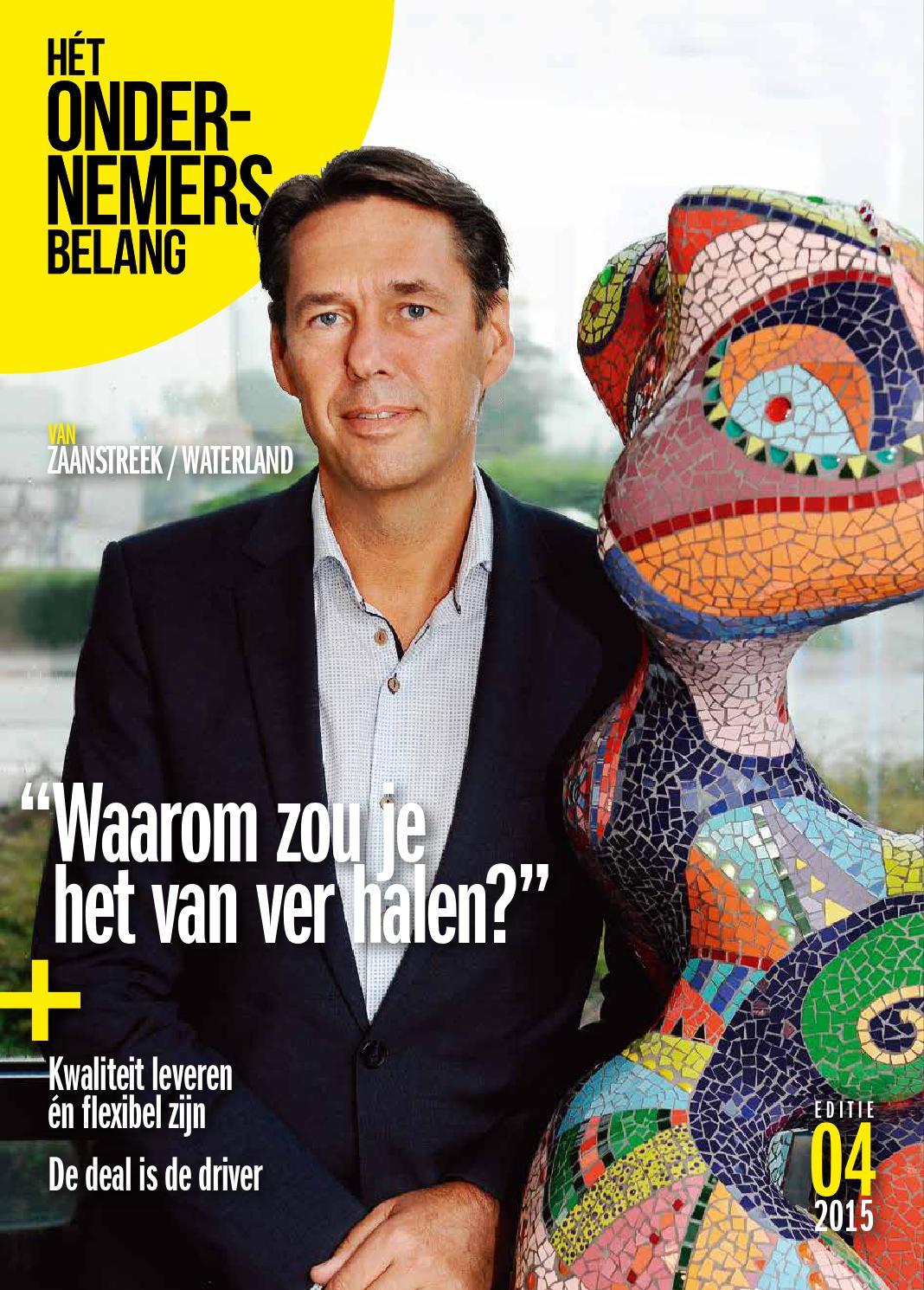 Het ondernemersbelang zaanstreek / waterland 4 2015 by uitgeverij ...