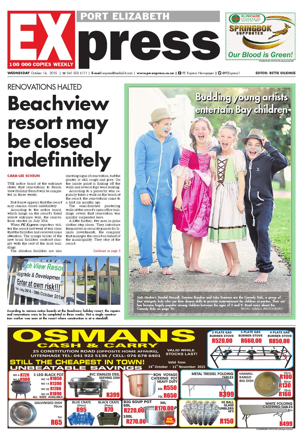 Pe Express 14 October 2015 By Pe Express Issuu