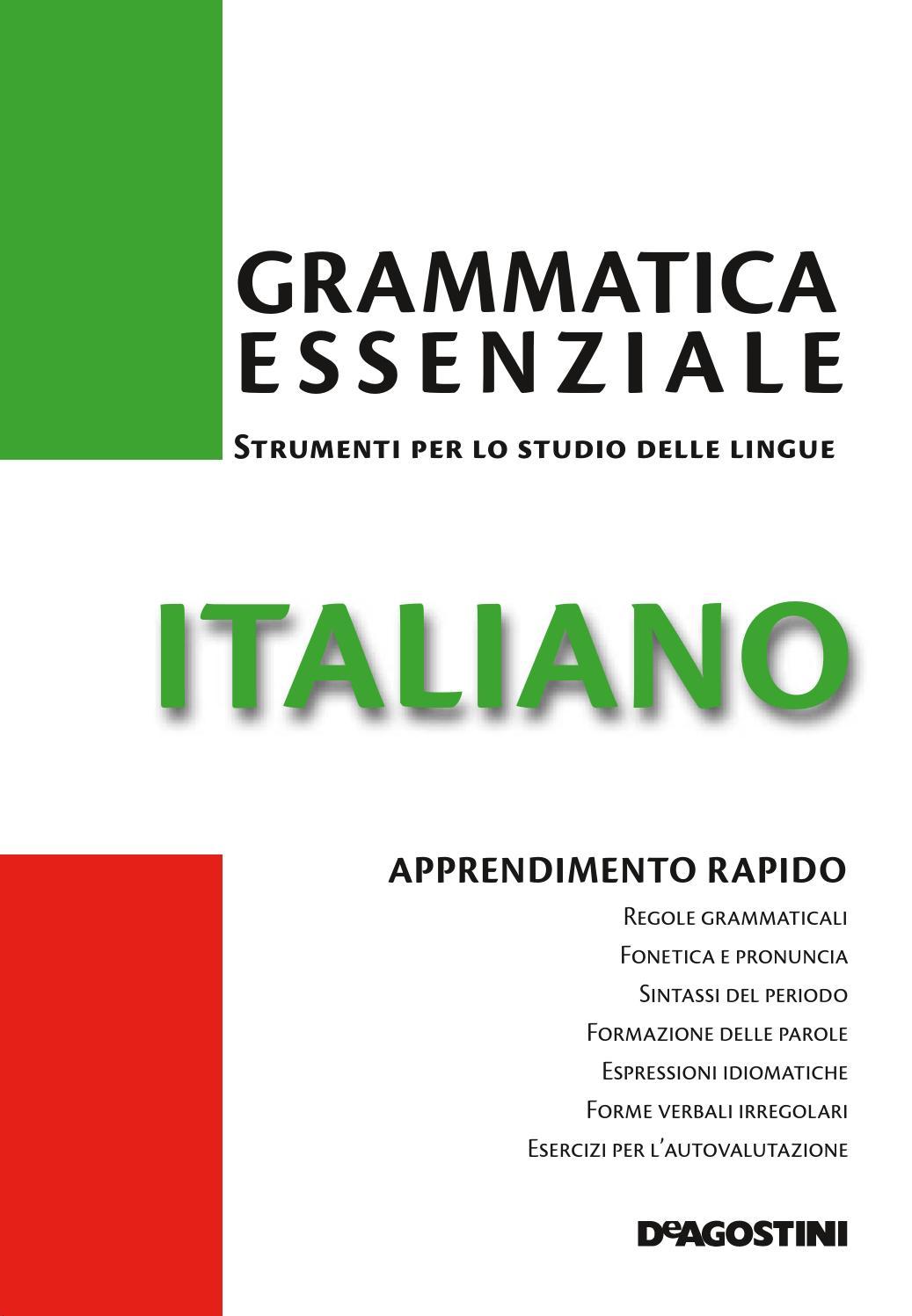 Grammatica essenziale italiano by arlete issuu for Composizione del parlamento italiano oggi