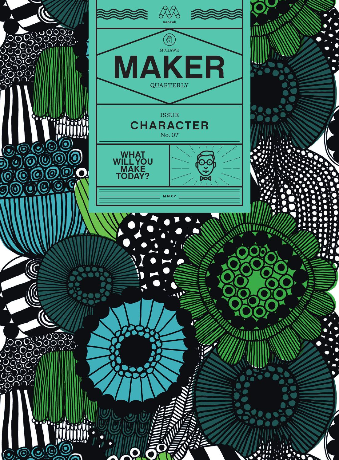 Character Design Quarterly Issue 3 : Mohawk maker quarterly issue character by issuu