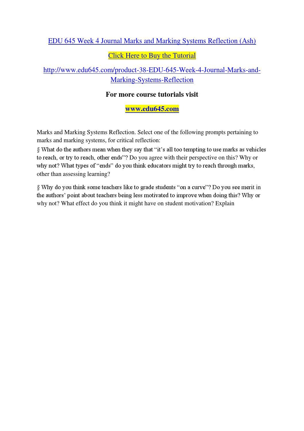 edu 645 week 4 journal marks by mahi29 issuu