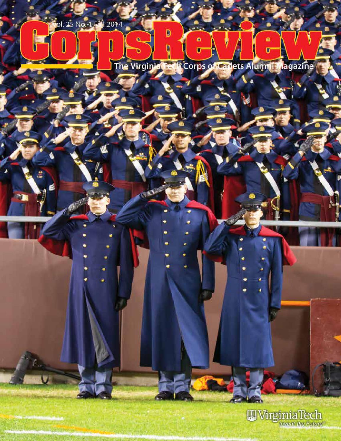 corps review summer 2016 by virginia tech corps of cadets alumni corps review vol 25 no 1 fall 2014